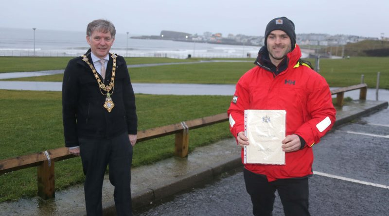 Mayor honours Portrush man after house fire rescue